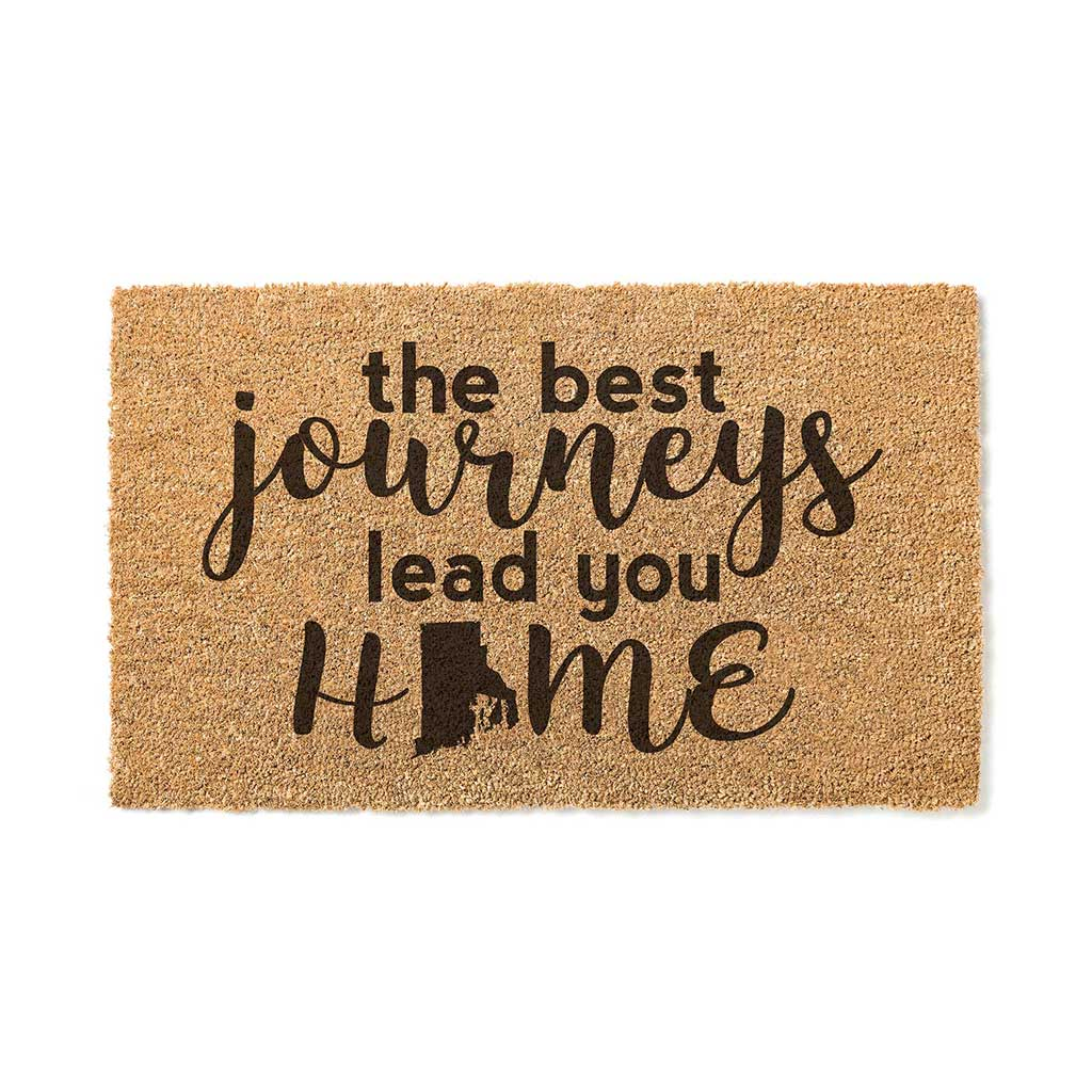 18x30 Coir Doormat Best Journeys Rhode Island