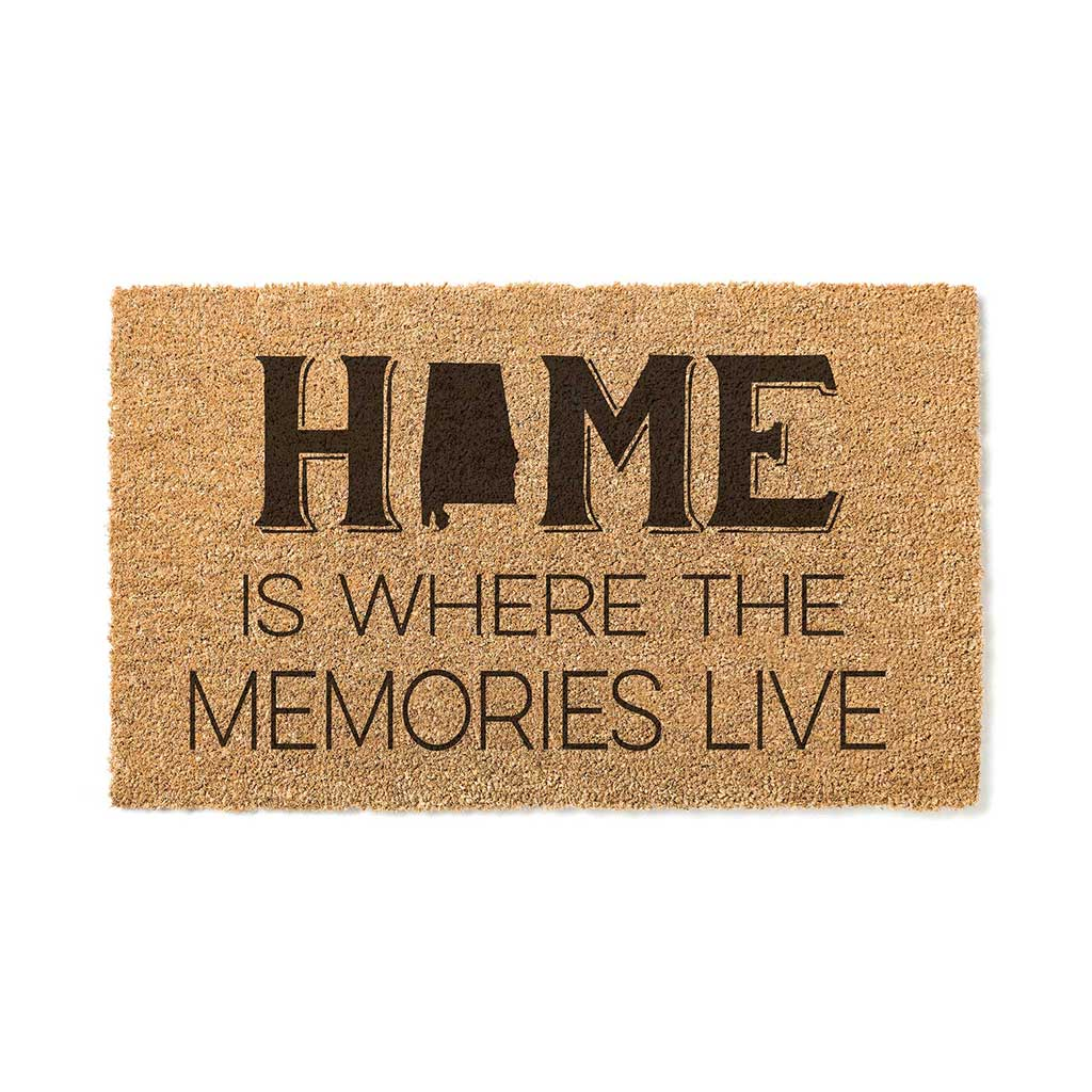 18x30 Coir Doormat Home Memories Live Alabama