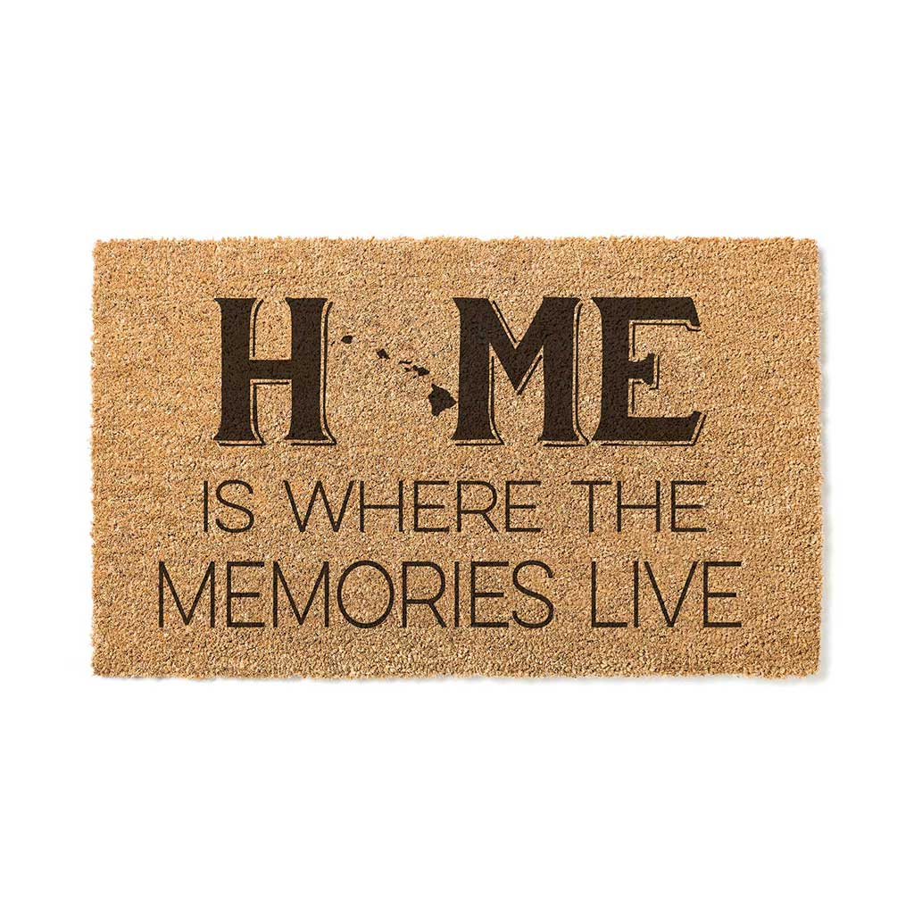 18x30 Coir Doormat Home Memories Live Hawaii