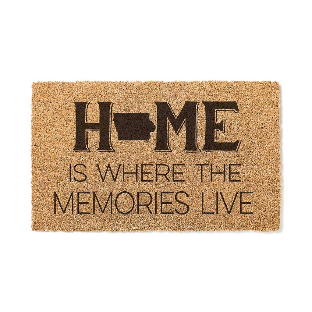 18x30 Coir Doormat Home Memories Live Iowa