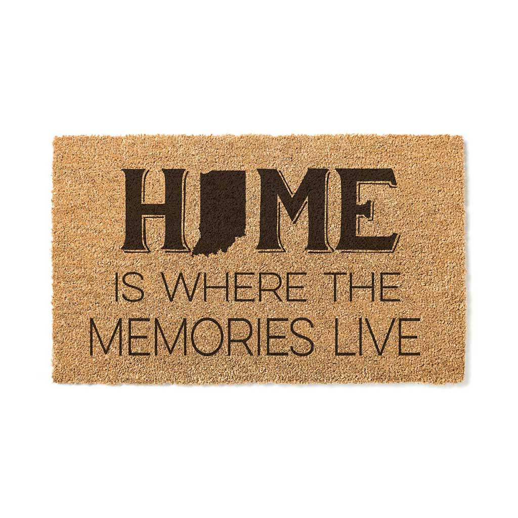 18x30 Coir Doormat Home Memories Live Indiana