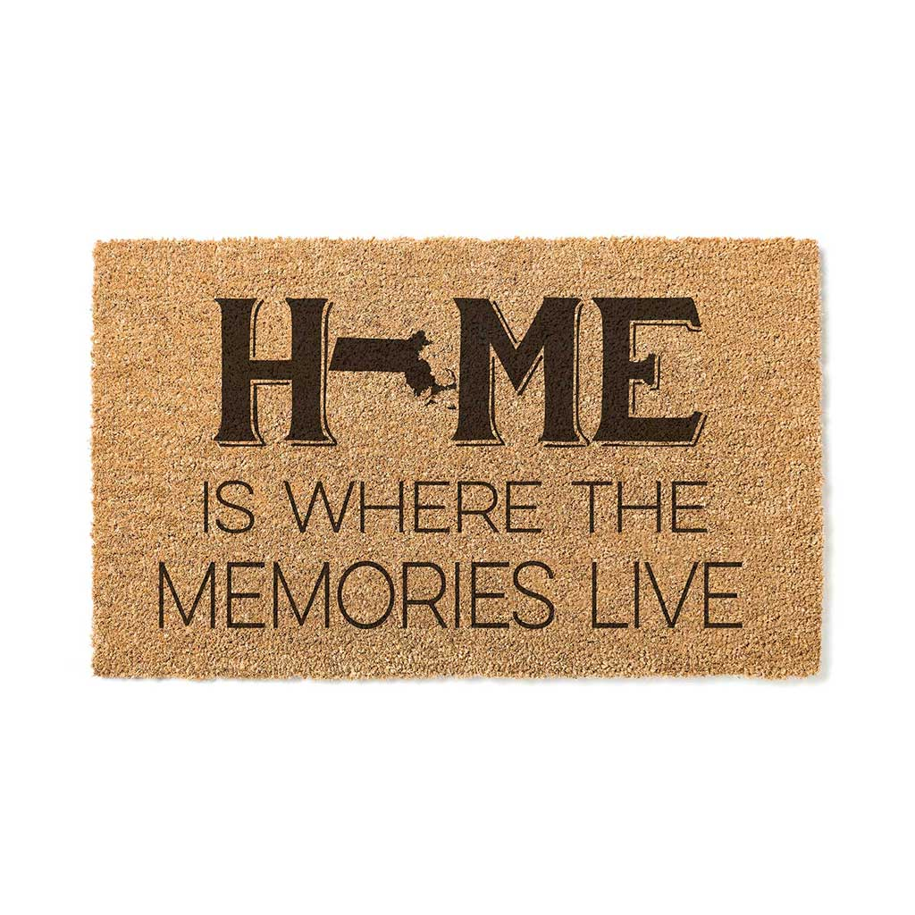 18x30 Coir Doormat Home Memories Live Massachusetts