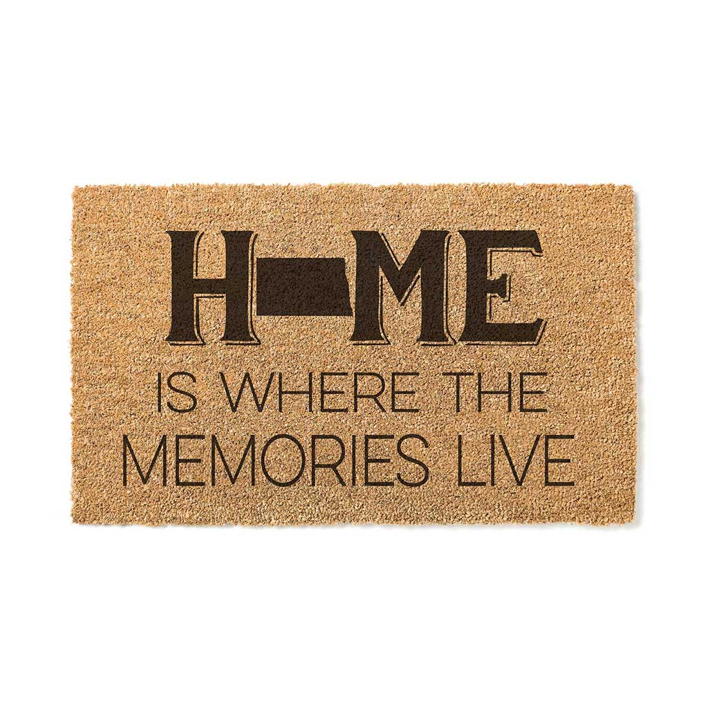 18x30 Coir Doormat Home Memories Live North Dakota