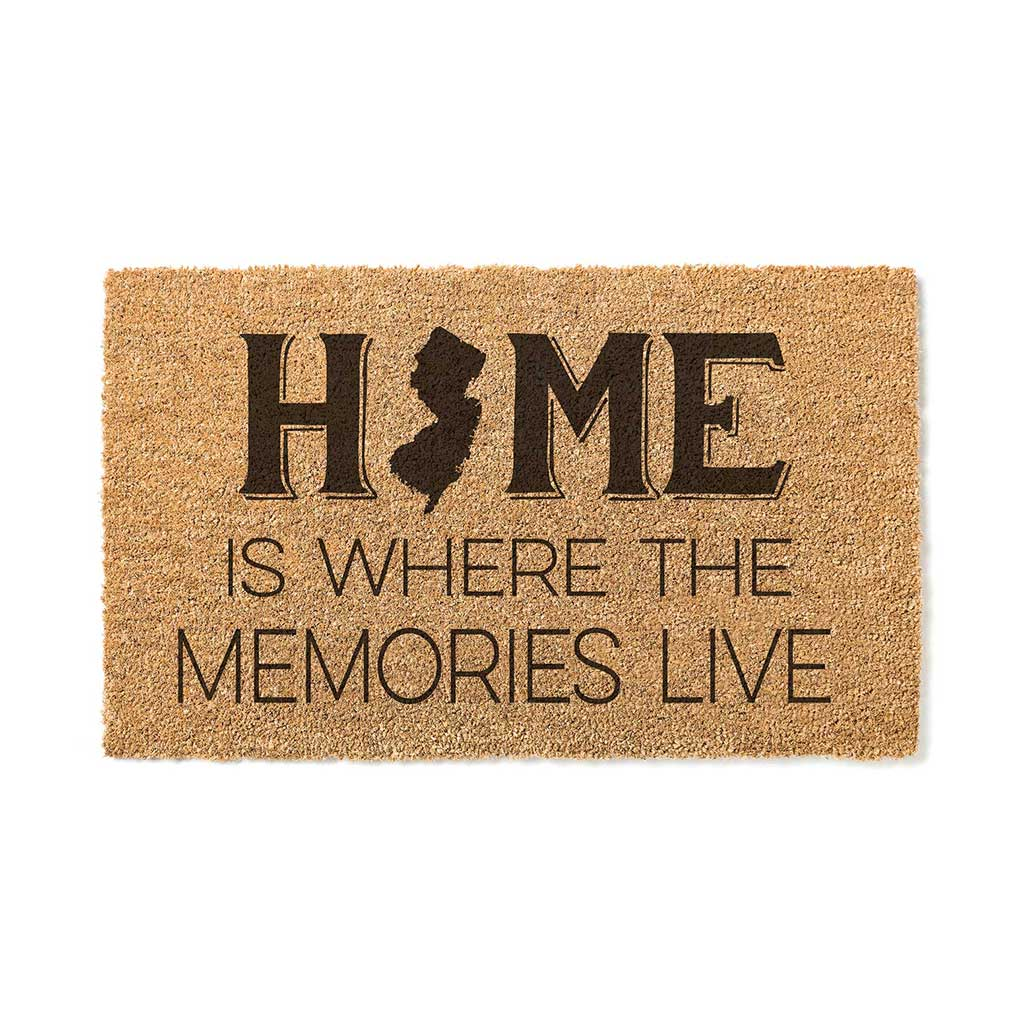 18x30 Coir Doormat Home Memories Live New Jersey