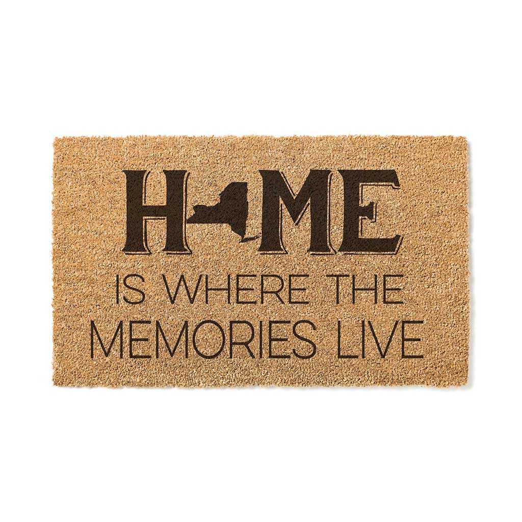 18x30 Coir Doormat Home Memories Live New York