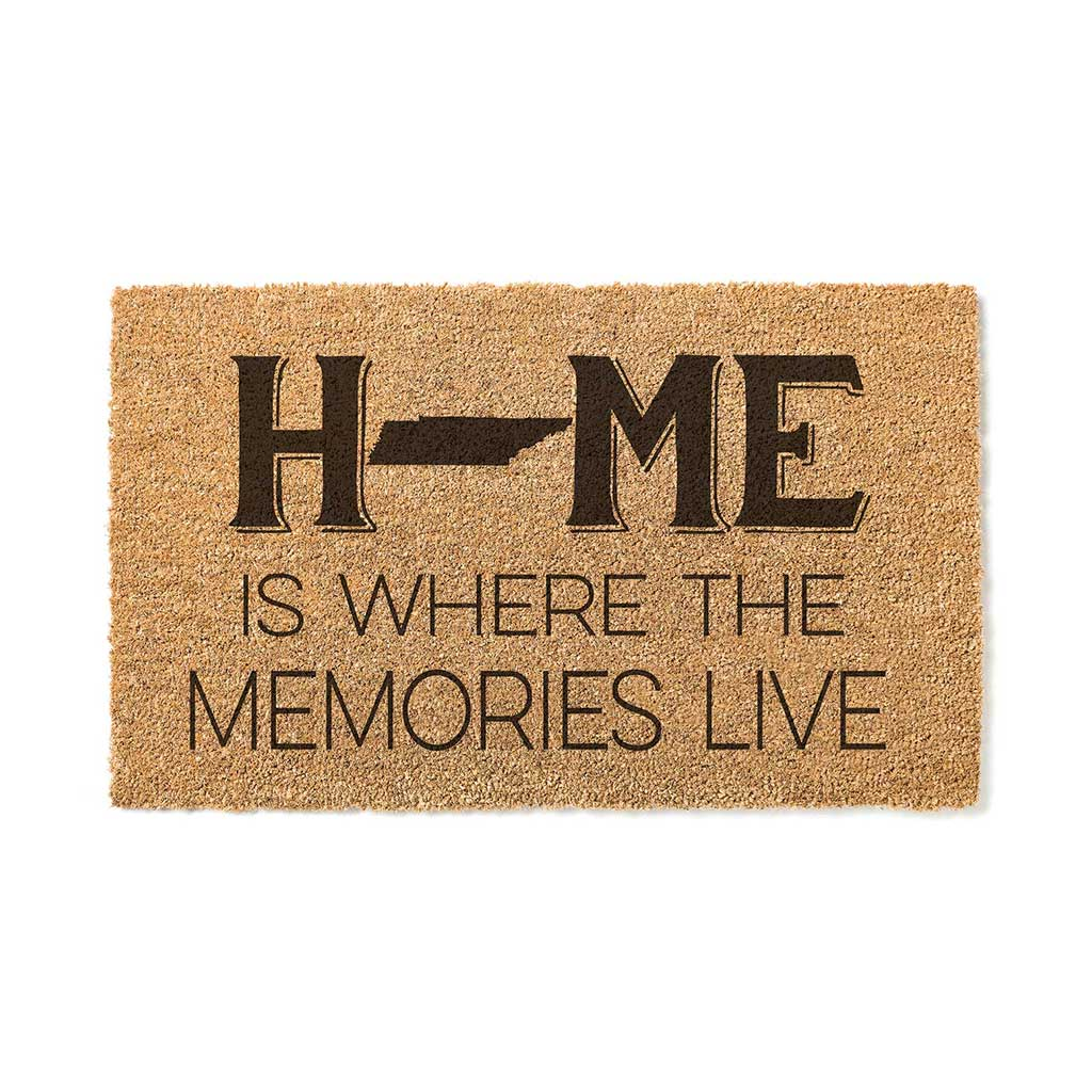 18x30 Coir Doormat Home Memories Live Tennessee