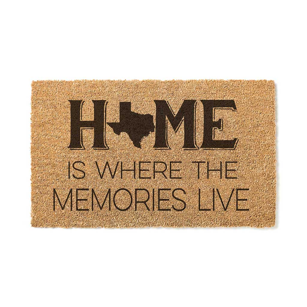 18x30 Coir Doormat Home Memories Live Texas