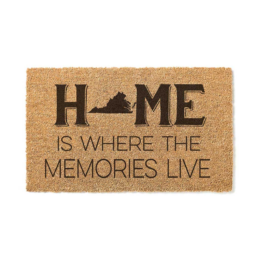 18x30 Coir Doormat Home Memories Live Virginia