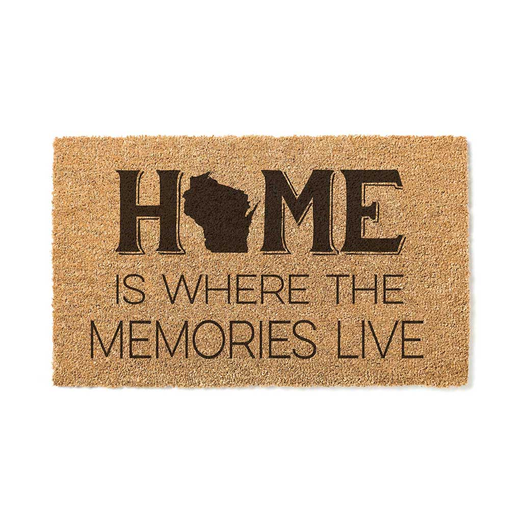 18x30 Coir Doormat Home Memories Live Wisconsin