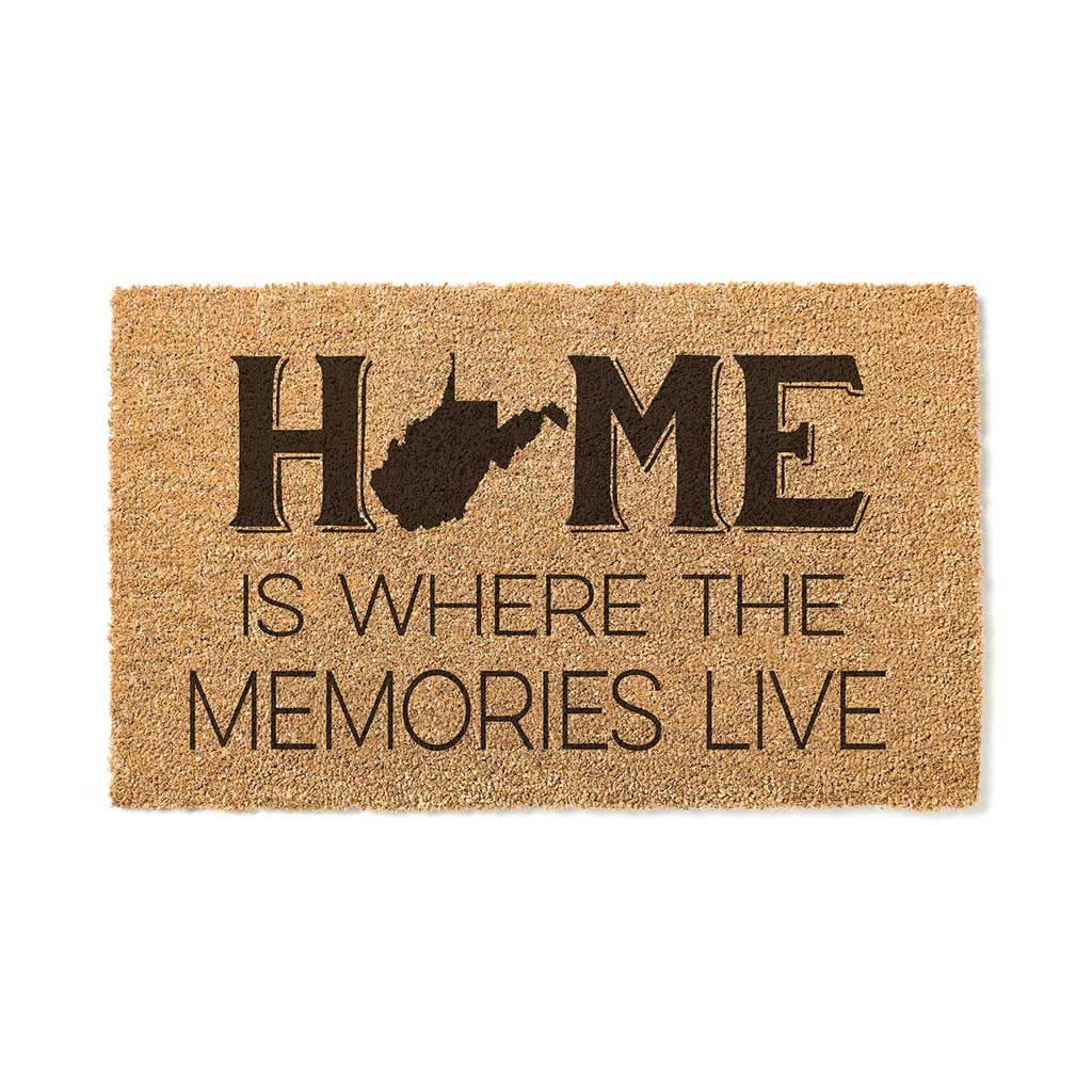 18x30 Coir Doormat Home Memories Live West Virginia