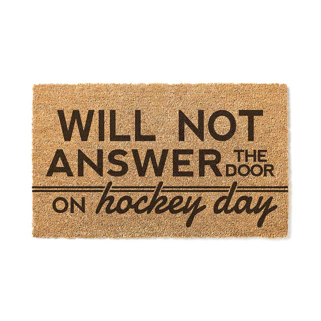 18x30 Coir Doormat Hockey Night