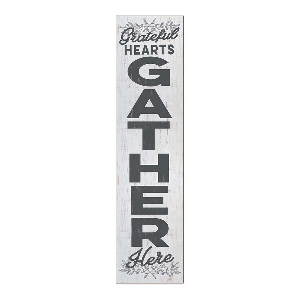 12x48 Grateful Hearts Gather Leaner Sign