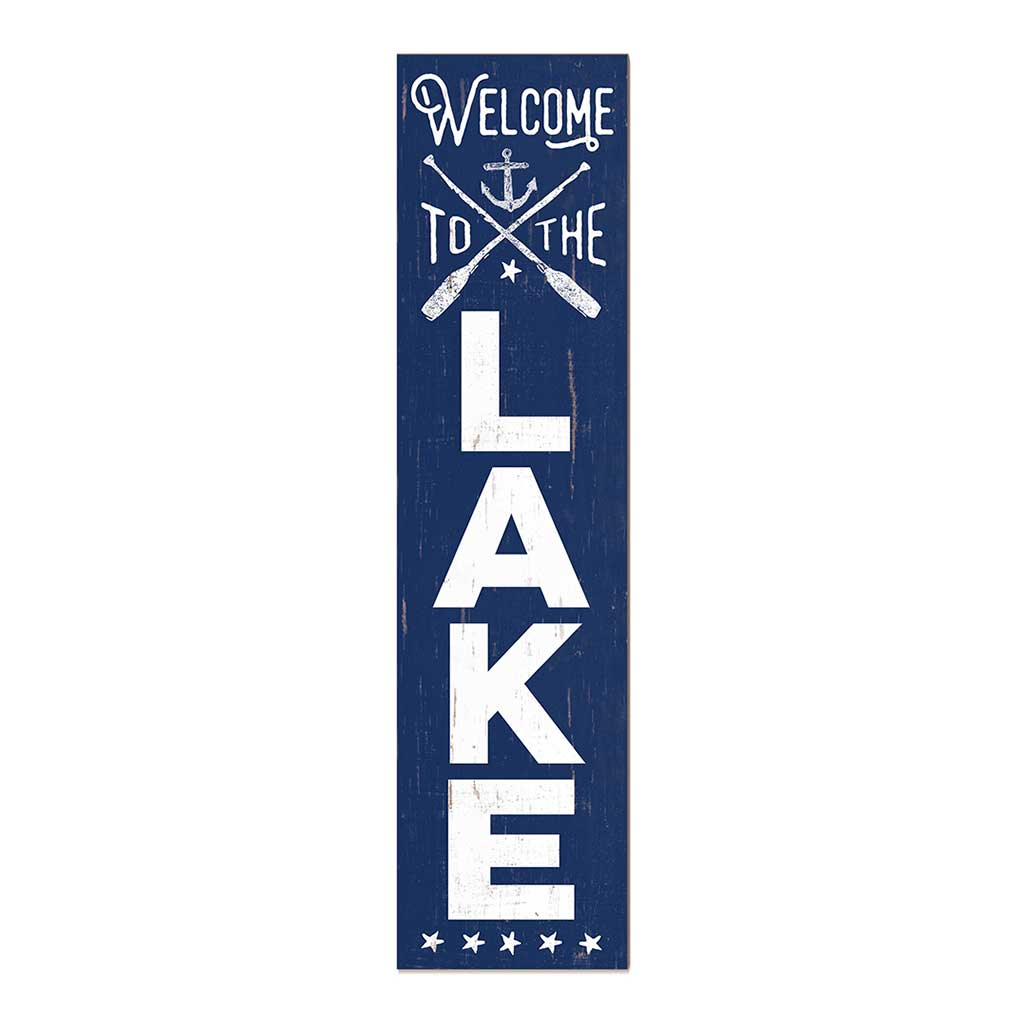 12x48 Welcome to the Lake Leaner Sign