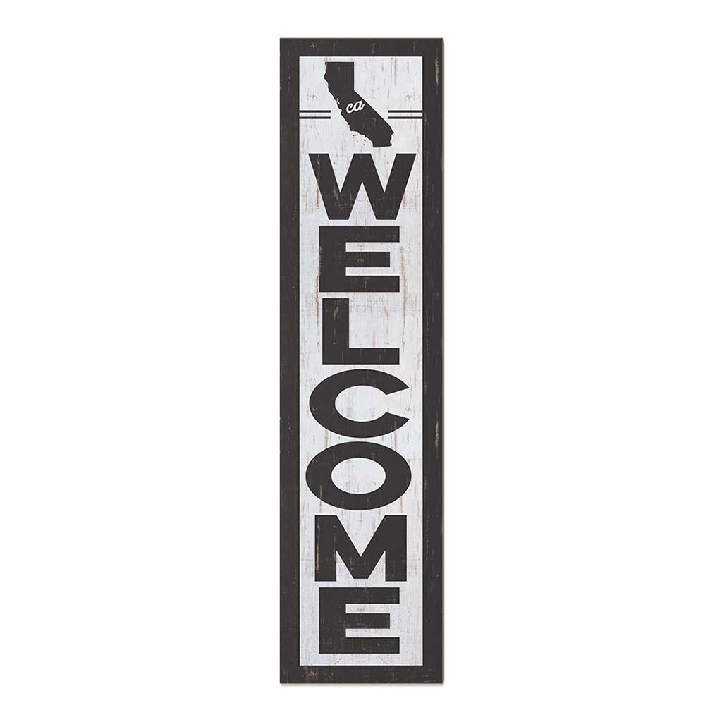 12x48 State Welcome California Leaner Sign