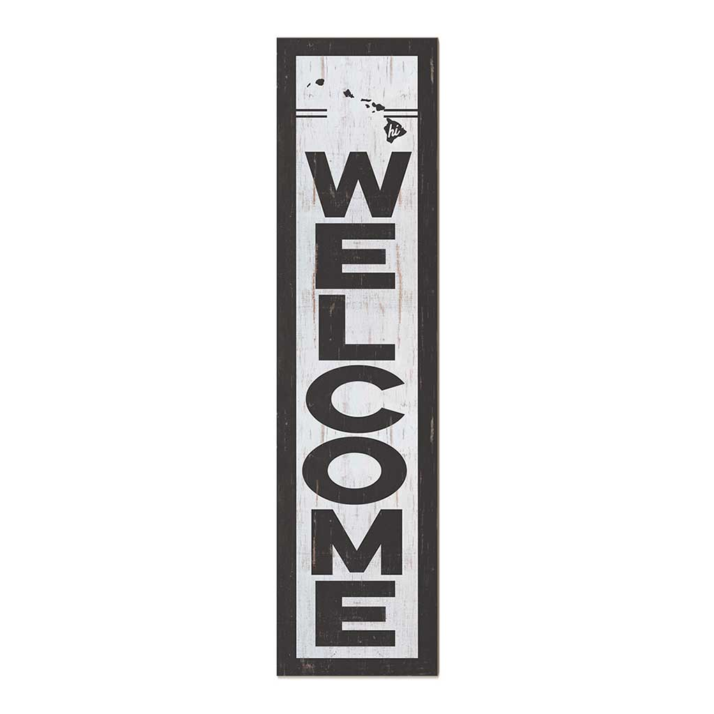 12x48 State Welcome Hawaii Leaner Sign