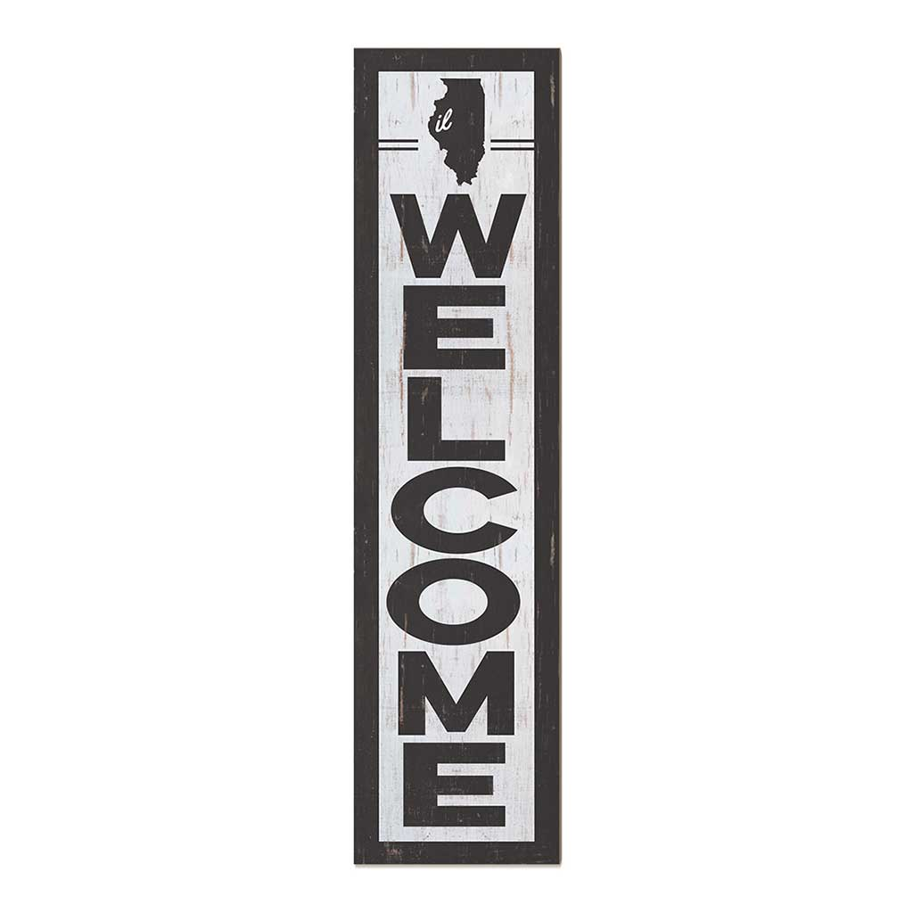 12x48 State Welcome Illinois Leaner Sign