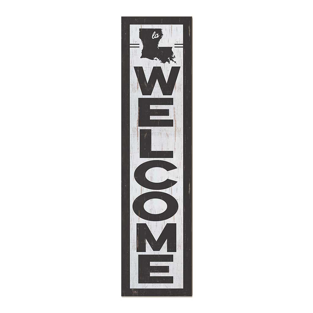 12x48 State Welcome Louisiana Leaner Sign