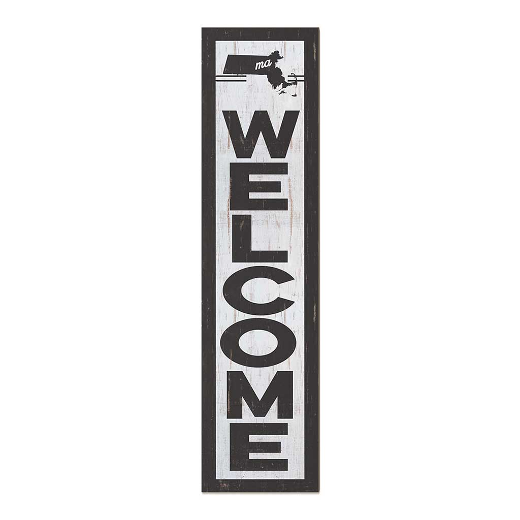 12x48 State Welcome Massachusetts Leaner Sign
