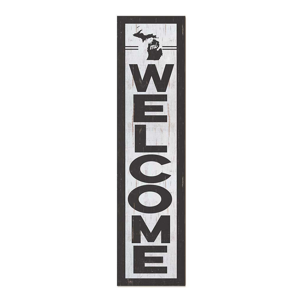 12x48 State Welcome Michigan Leaner Sign