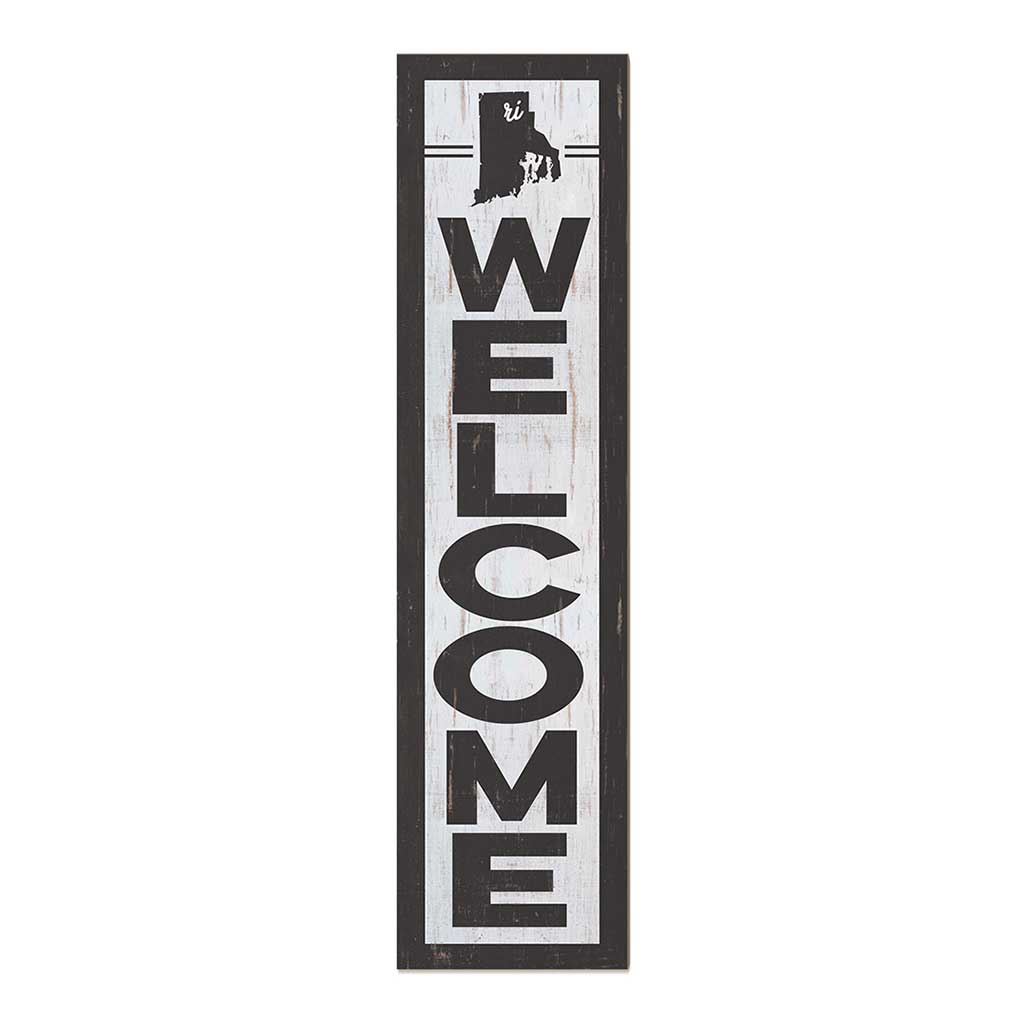 12x48 State Welcome Rhode Island Leaner Sign