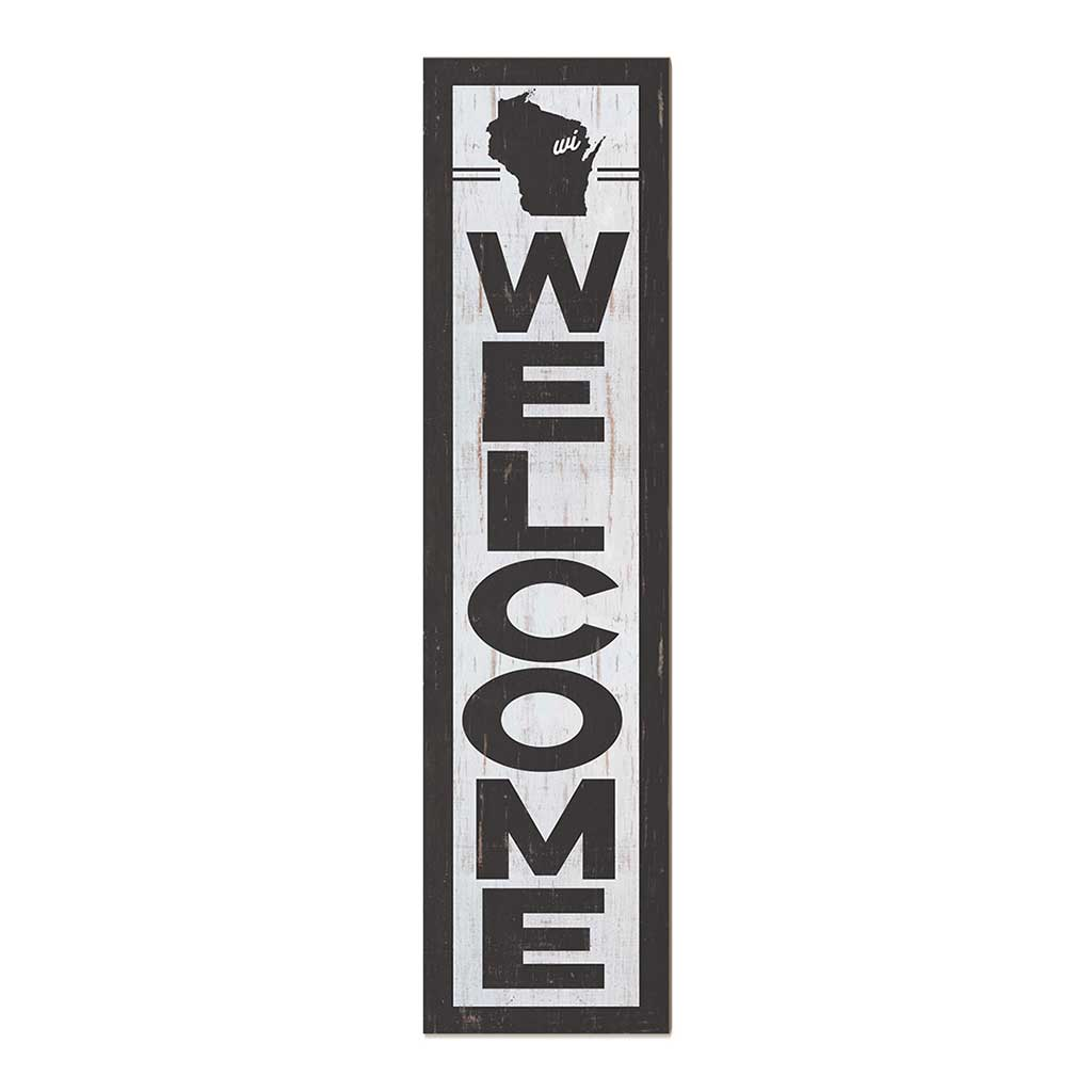 12x48 State Welcome Wisconsin Leaner Sign