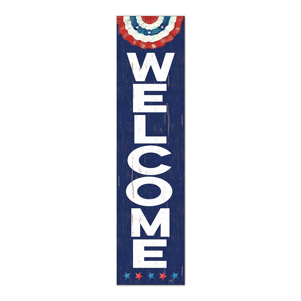12x48 Patriotic Welcome Leaner Sign