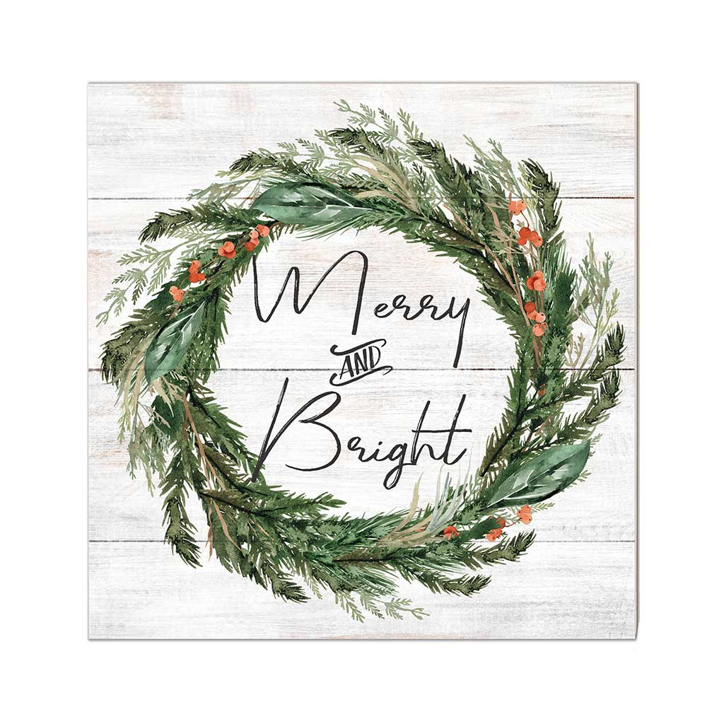 10x10 Merry and Bright Wreath Sign