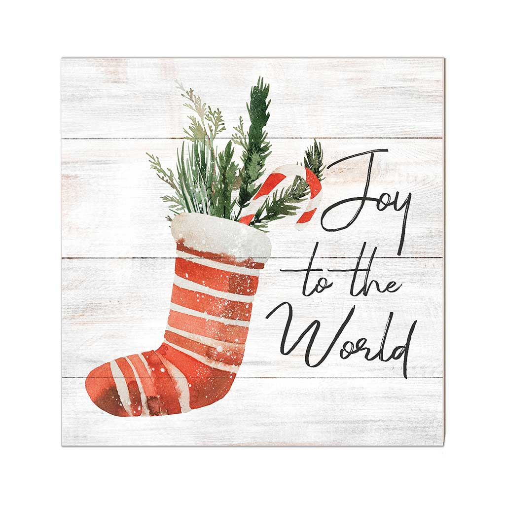 10x10 Joy to the World Stocking Sign