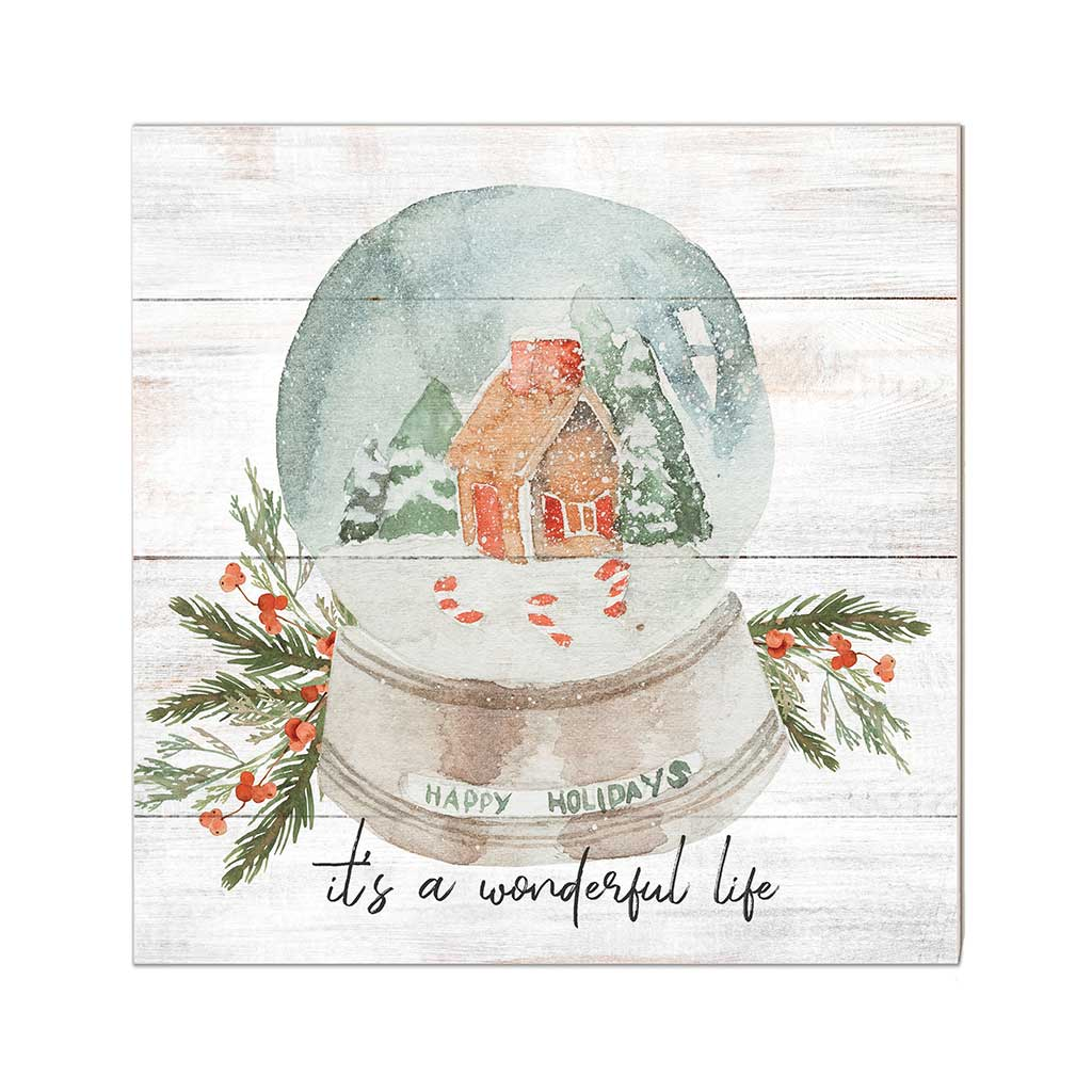 10x10 It's a Wonderful World Snowglobe Sign