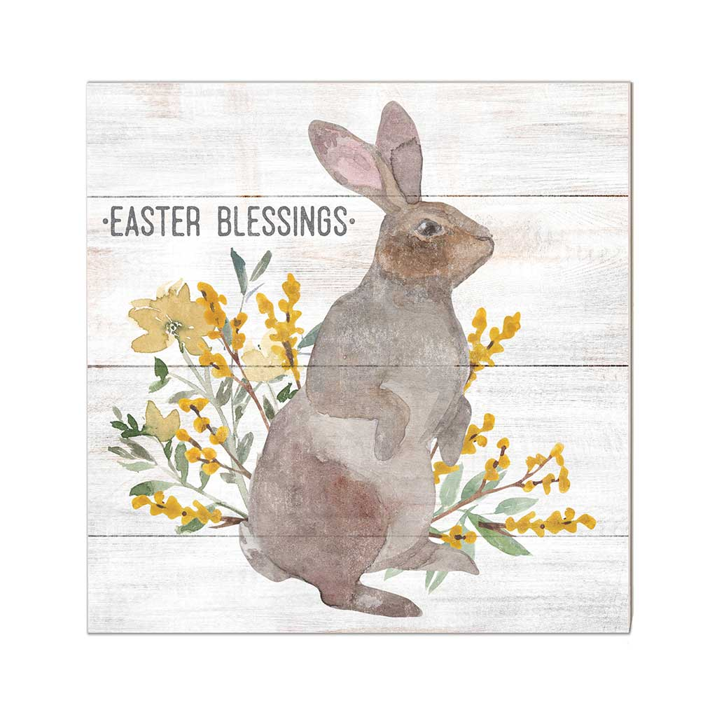 10x10 Easter Blessings with Bunny Sign