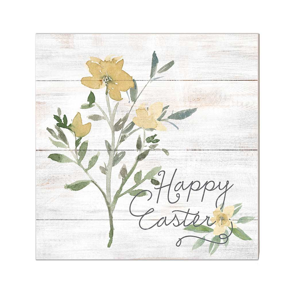 10x10 Happy Easter Yellow Flowers Sign