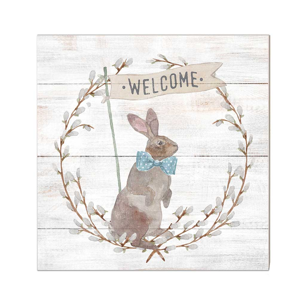 10x10 Welcome Bunny Sign