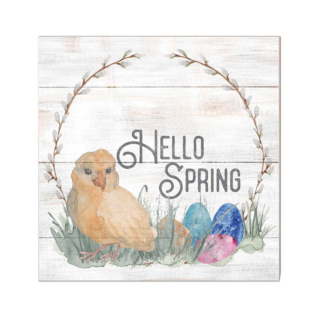 10x10 Hello Spring with Chick Sign