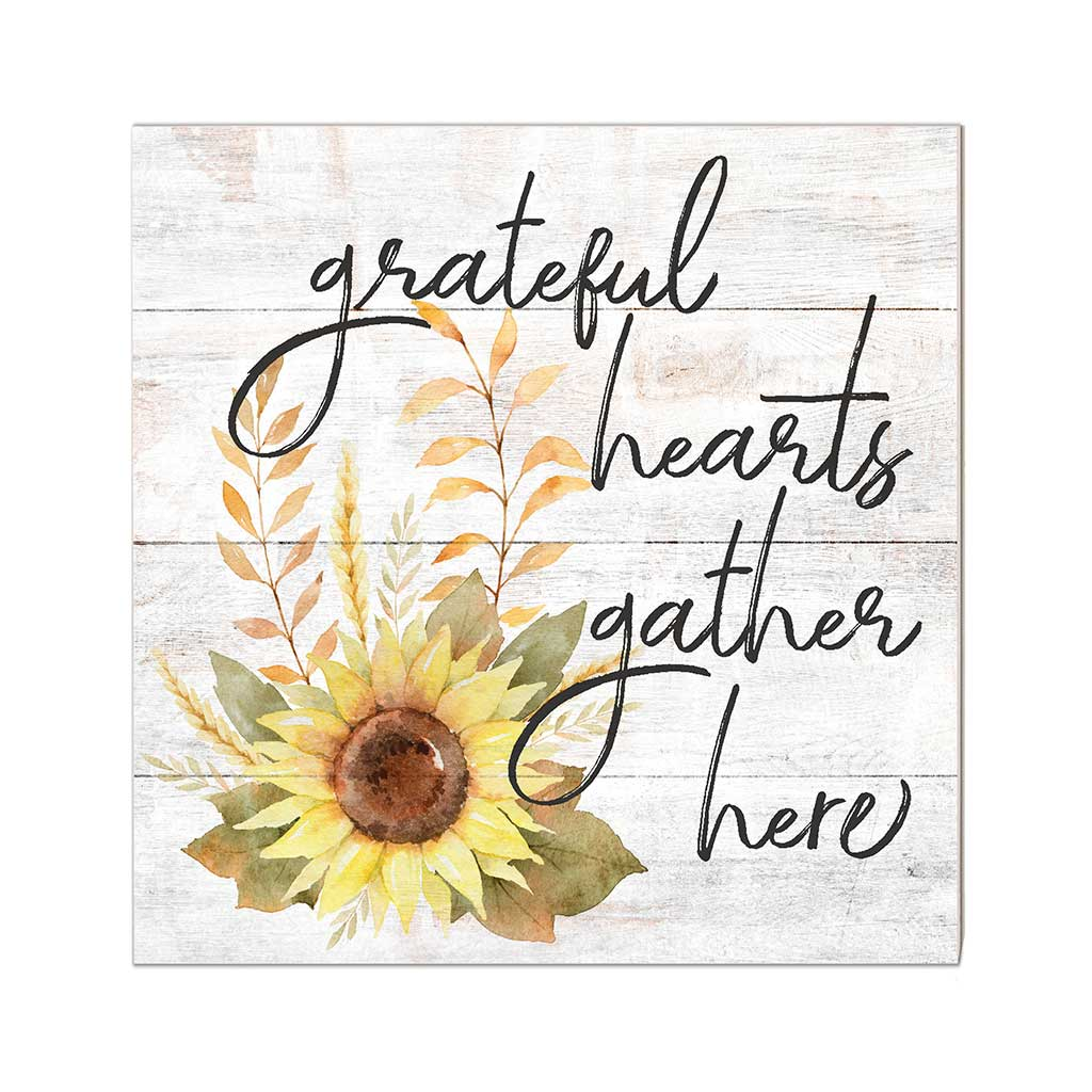10x10 Grateful Hearts Sunflower Sign