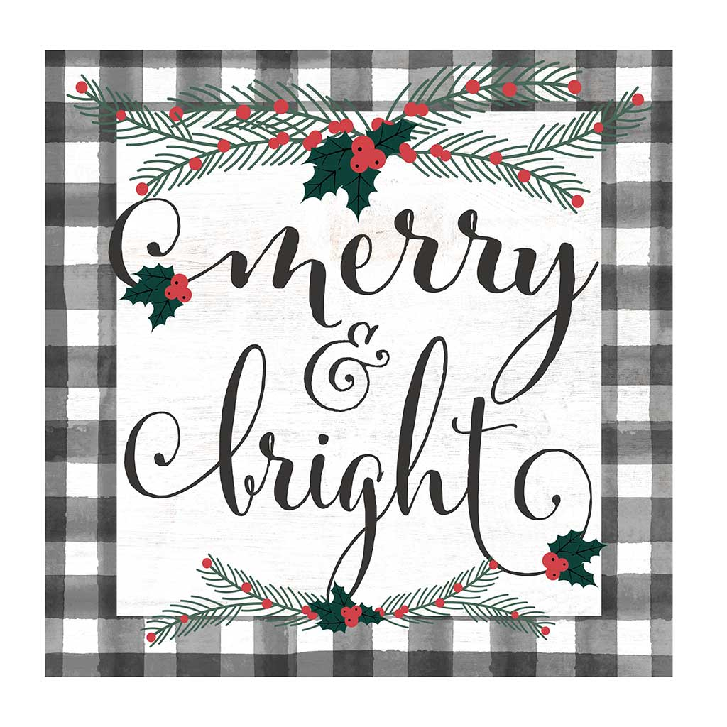 10x10 Merry and Bright Holly Buffalo Check Sign