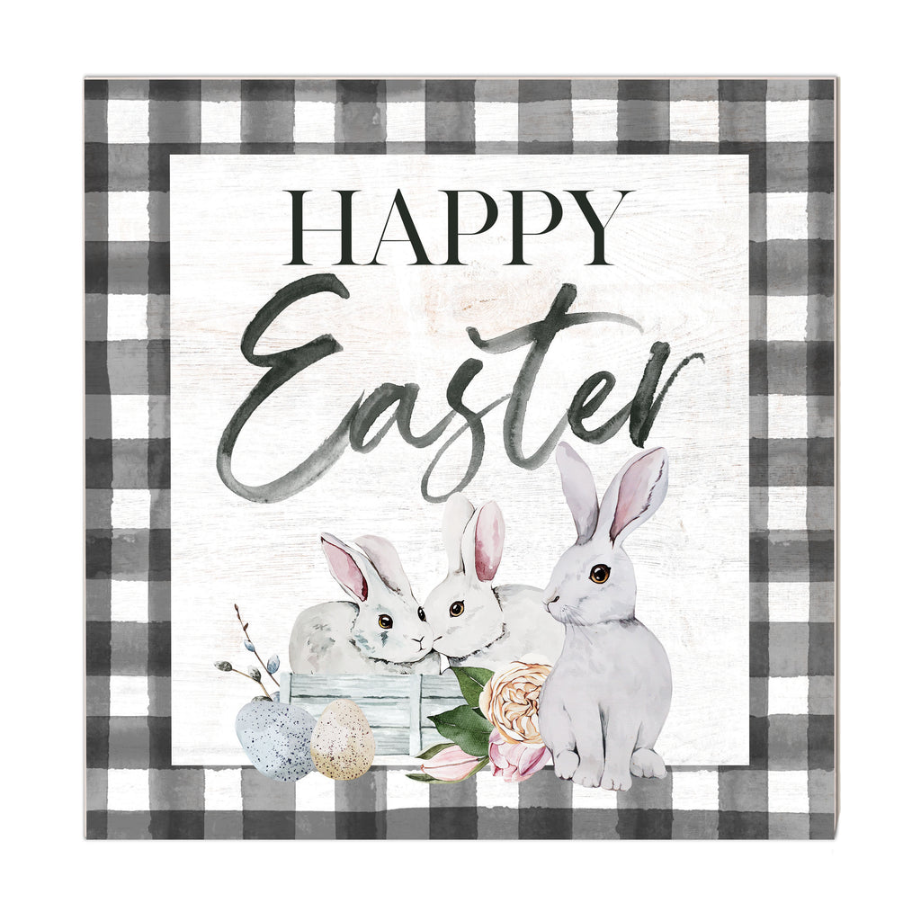 10x10 Happy Easter Buffalo Check Sign