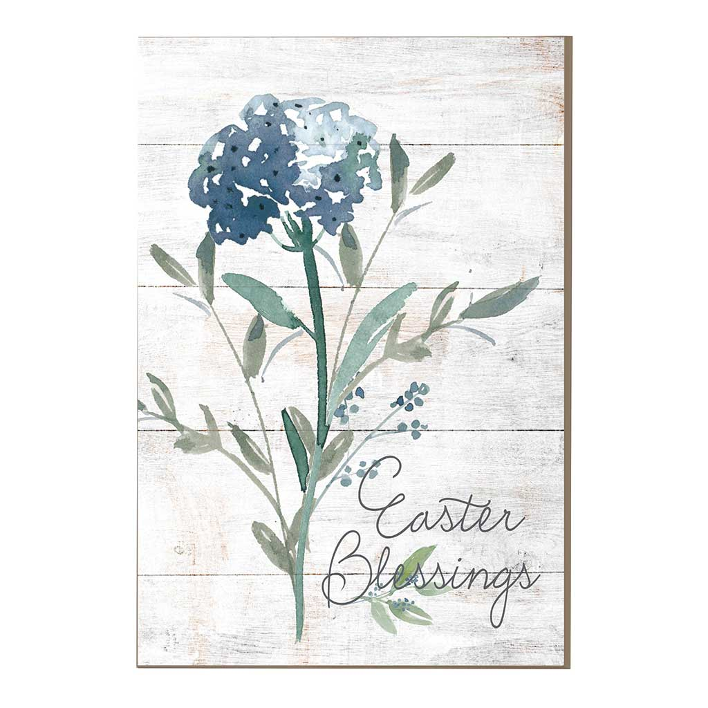 9x13 Blue Flower Easter Blessings Sign
