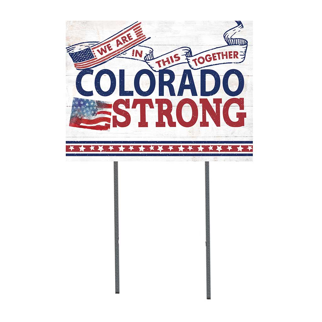 State Strong Lawn Sign Colorado