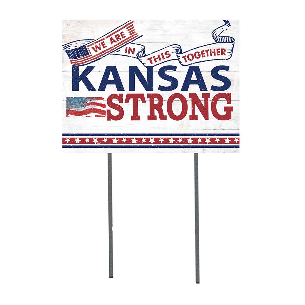 State Strong Lawn Sign Kansas