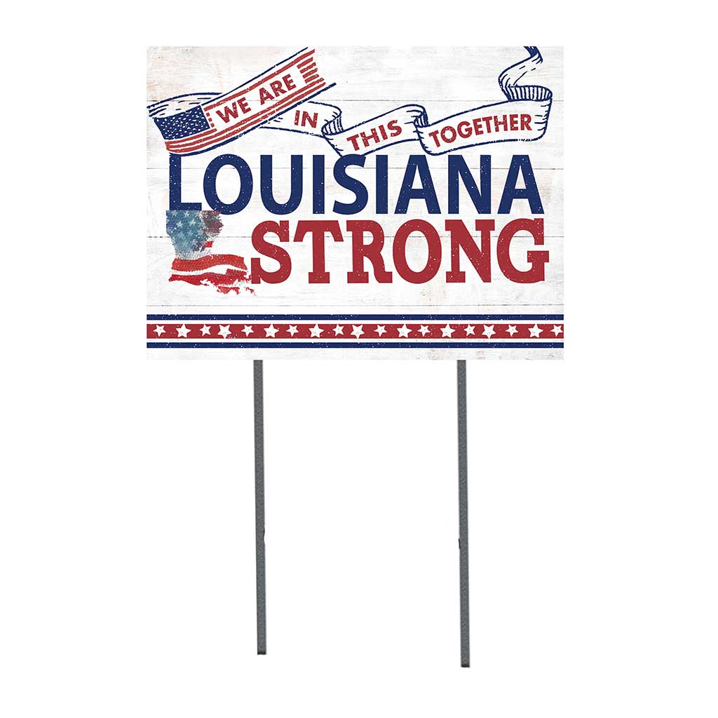 State Strong Lawn Sign Louisiana