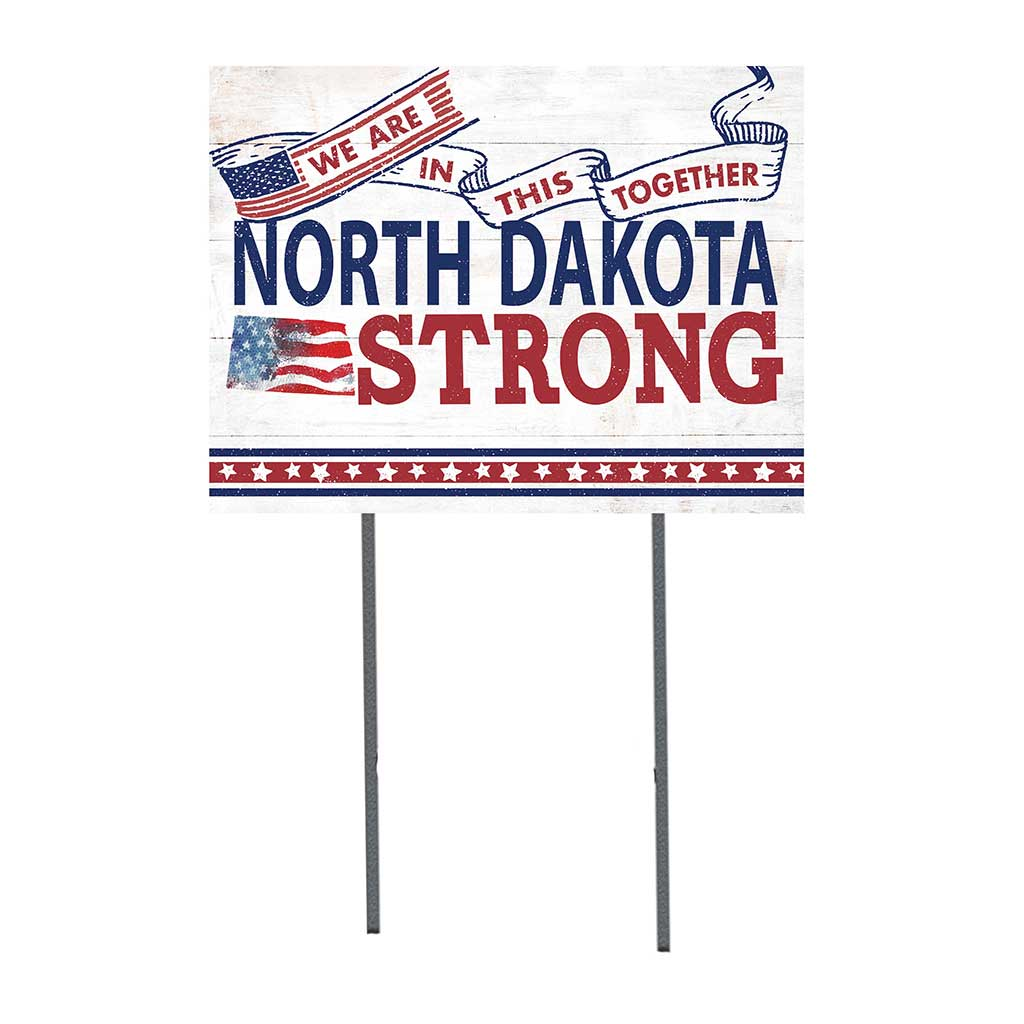 State Strong Lawn Sign North Dakota
