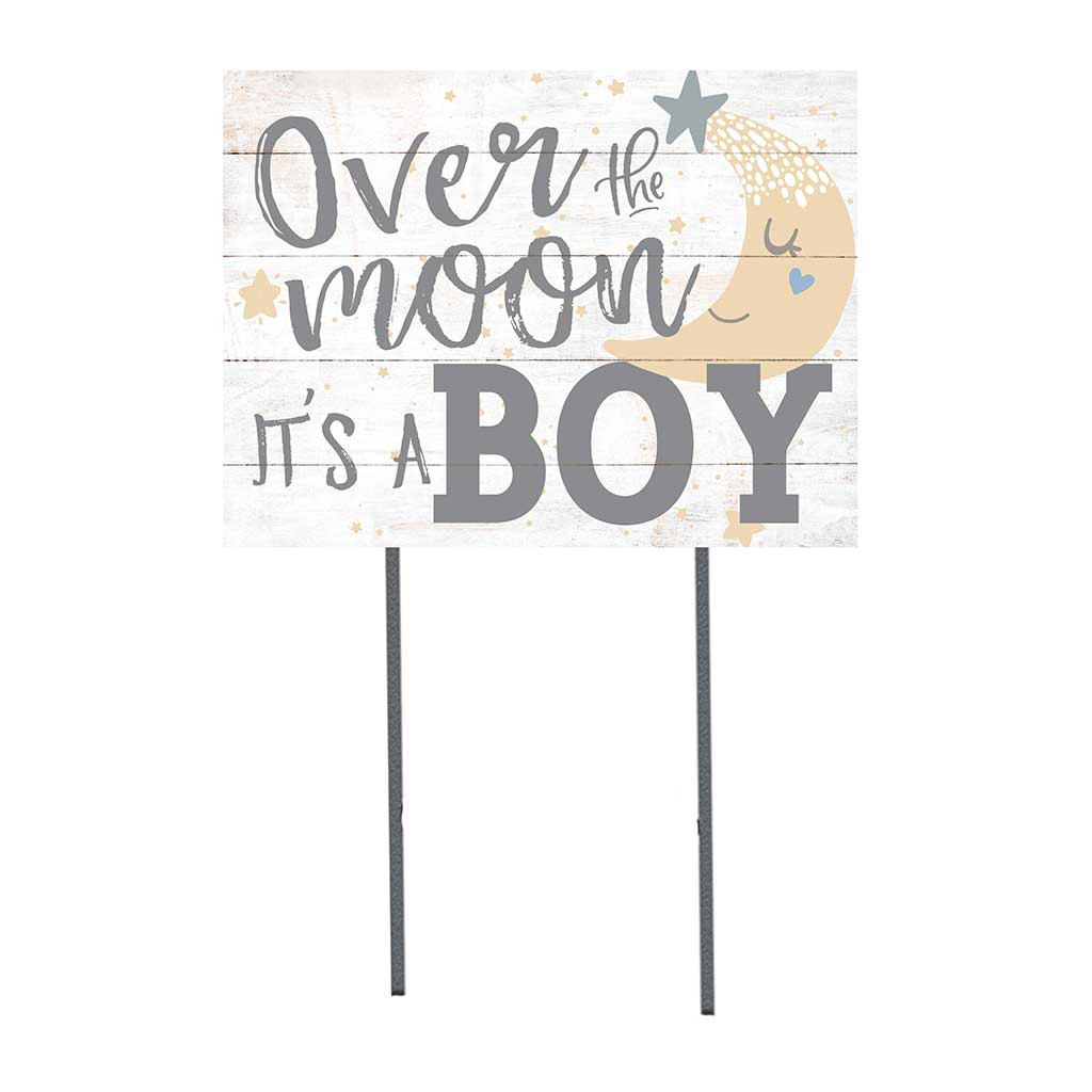 18x24 Over Moon It's A Boy Lawn Sign