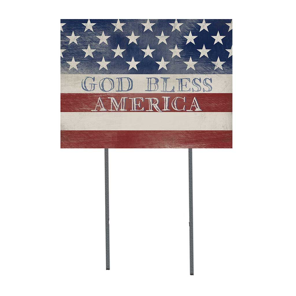 18x24 God Bless America Flag Lawn Sign