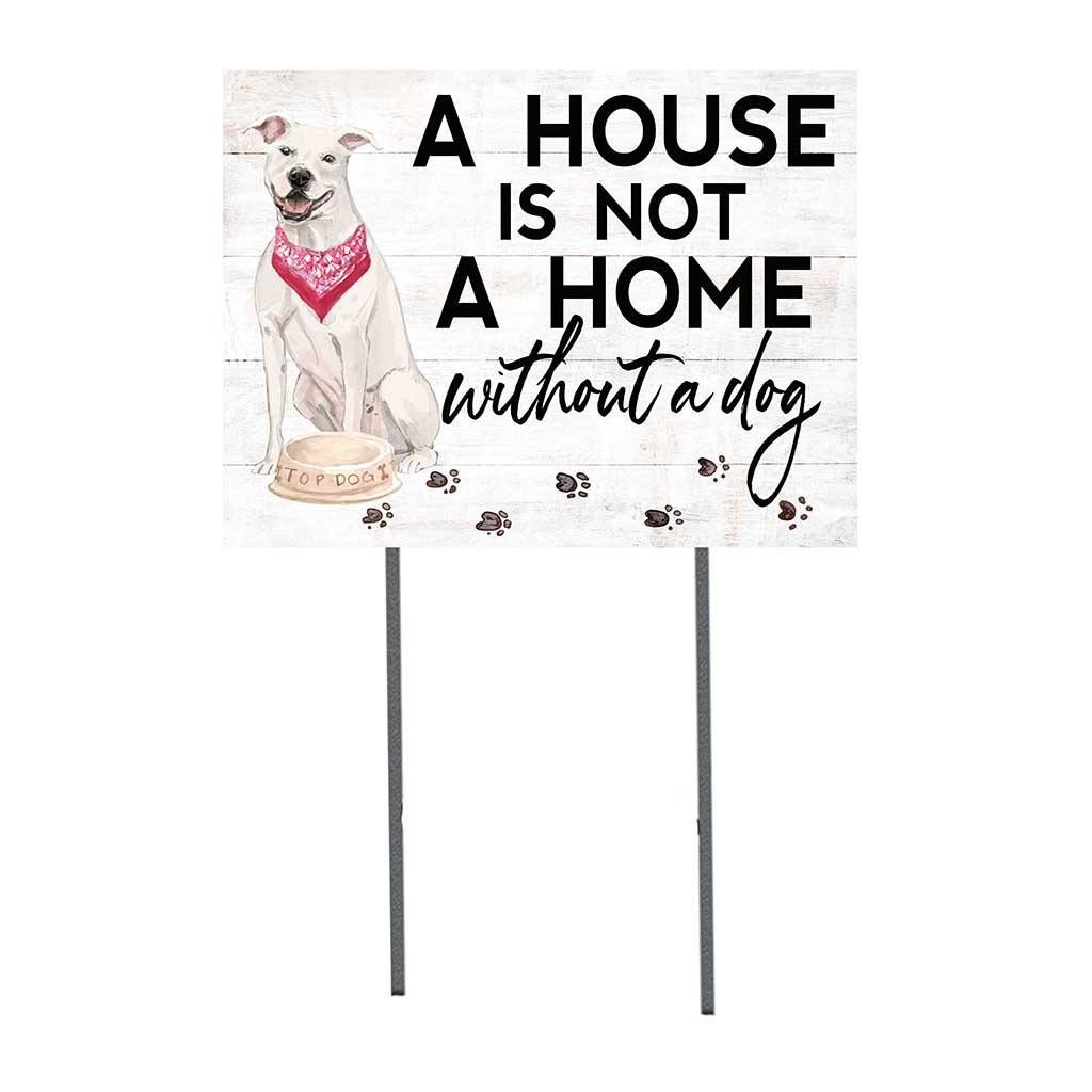 18x24 American Staffordshire Terrier White Dog Lawn Sign