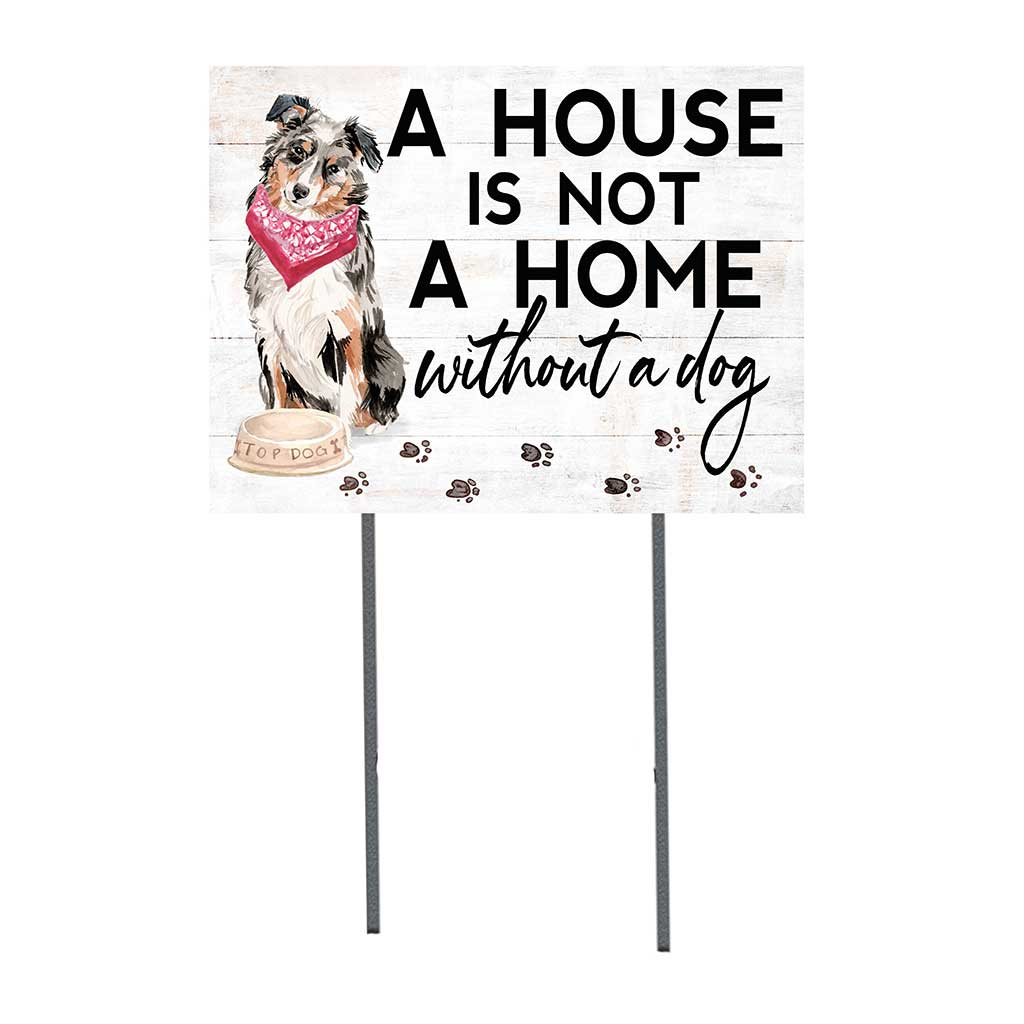 18x24 Australian Shepherd Dog Lawn Sign
