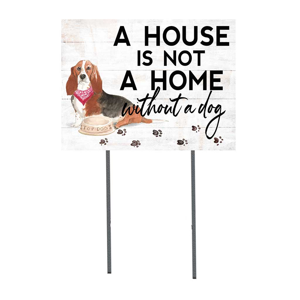 18x24 Basset Hound Dog Lawn Sign