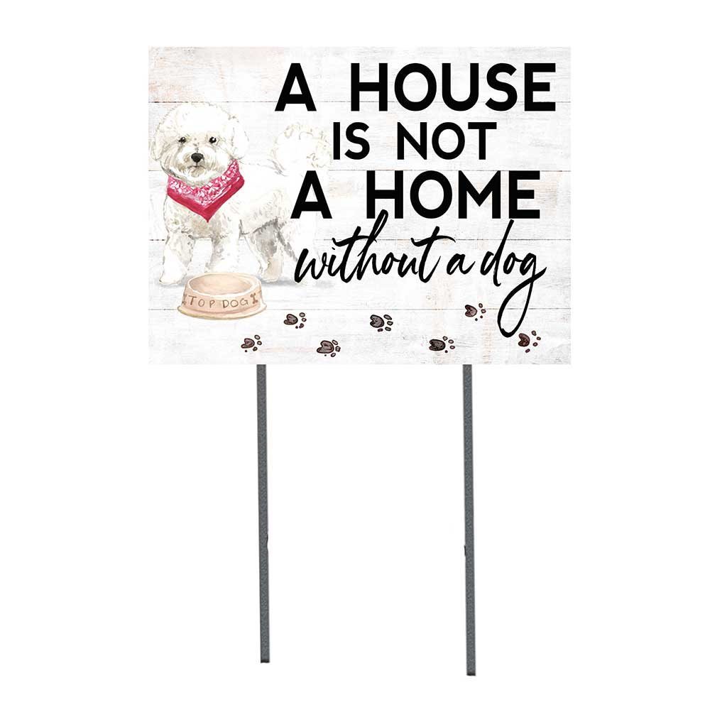 18x24 Bichon Frise Dog Lawn Sign