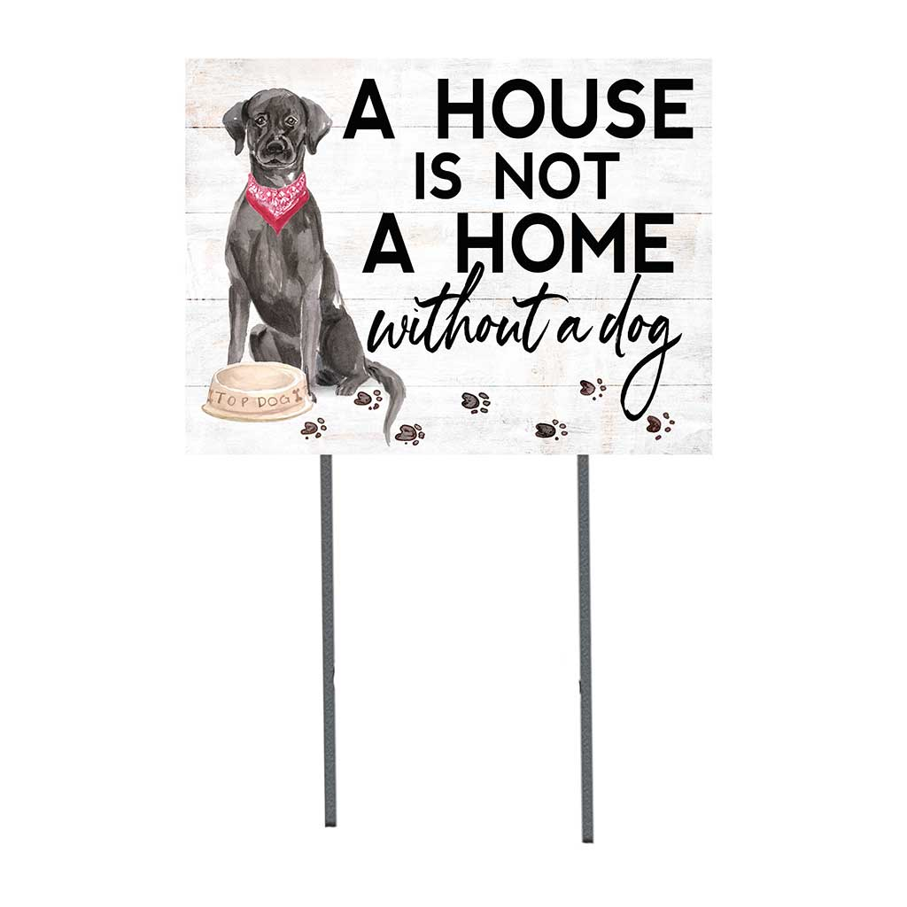 18x24 Black Labrador Dog Lawn Sign