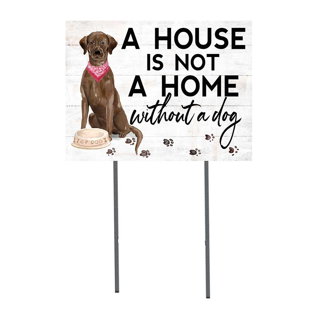 18x24 Chocolate Labrador Dog Lawn Sign