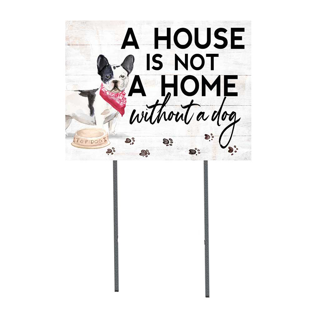 18x24 Black and White French Bulldog Dog Lawn Sign